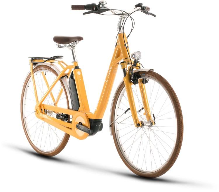 Cube Ella Cruise Hybrid 400 yellow n white 2020 - E-Bike Trekkingrad Tiefeinsteiger