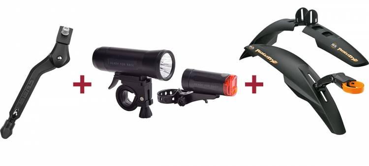 Cube Fahrradständer + RFR Beleuchtungsset + SKS Rowdy Set Schutzblech