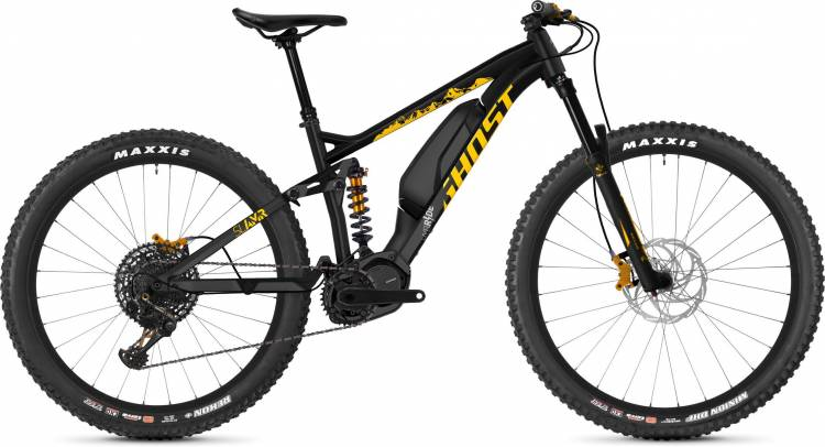 Ghost Hybride SLAMR S3.7+ AL U night black / spectra yellow / iridium silver 2020 - E-Bike Fully Mou