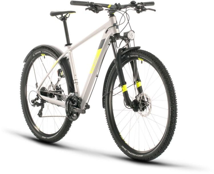 Cube Aim Allroad silver n flashyellow 2020 - Hardtail Mountainbike