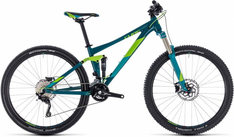 Cube Sting WS 120 turkisblue n green 2018 - Damen Fully Mountainbike