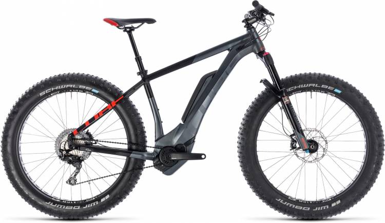 Cube Nutrail Hybrid 500 iridium n red 2018 - E-Bike Hardtail Fatbike