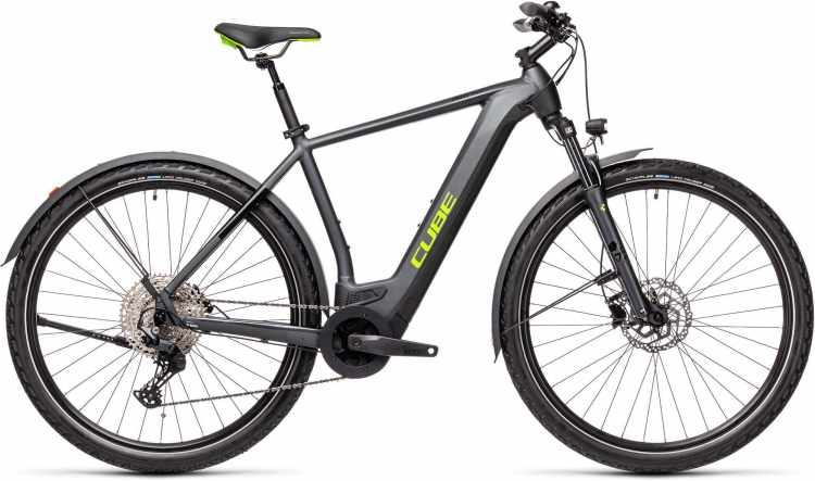 Cube Cross Hybrid Pro 500 Allroad iridium n green 2021 - E-Bike Crossrad Herren