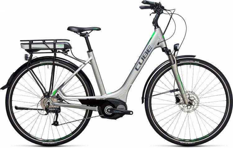 Cube Touring Hybrid ONE 400 silver n flashgreen Easy Entry 2017