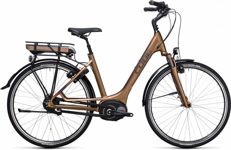 Cube Travel Hybrid 400 havanna brown n orange Easy Entry 2017