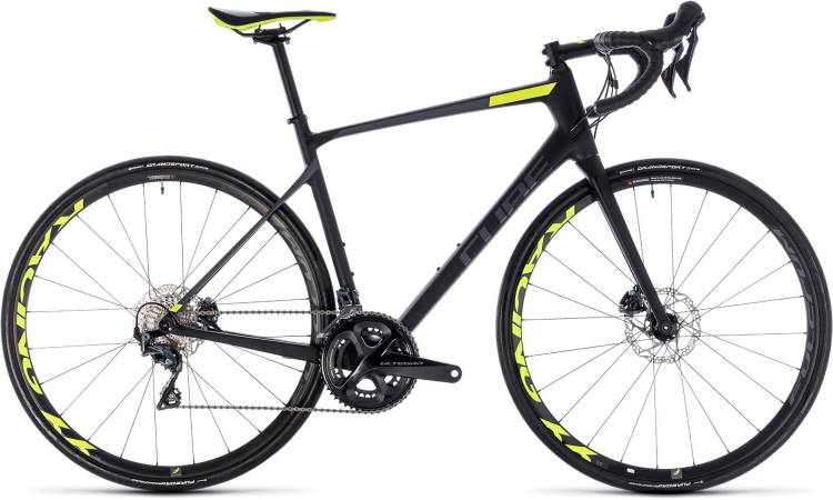 Cube Attain GTC SLT Disc carbon n flashyellow 2018 - Herren Carbon Rennrad