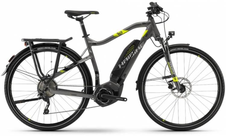 Haibike SDURO Trekking 4.0 400Wh anthr./schwarz/lime 2018 - Herren E-Bike Trekkingrad