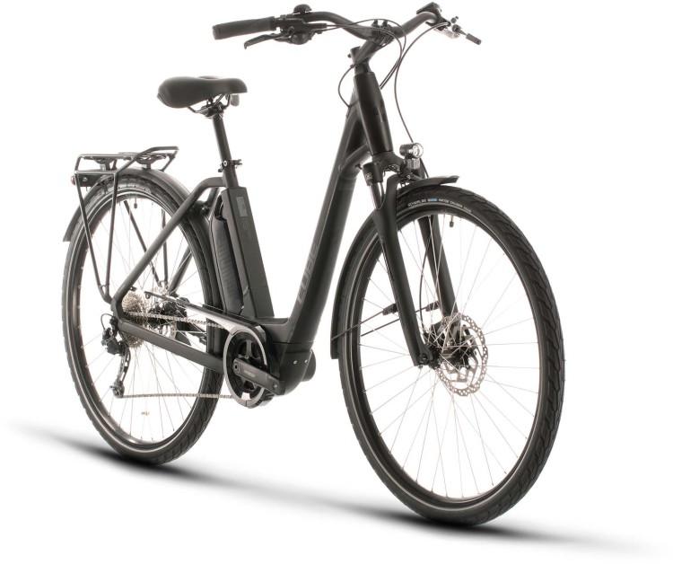 Cube Town Sport Hybrid ONE 500 black n grey 2020 - E-Bike Trekkingrad Tiefeinsteiger