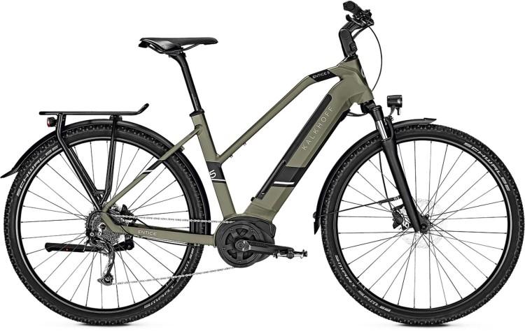 Kalkhoff Entice 5.B Move urbangreen matt (Trapez) 2020 - E-Bike Trekkingrad Damen
