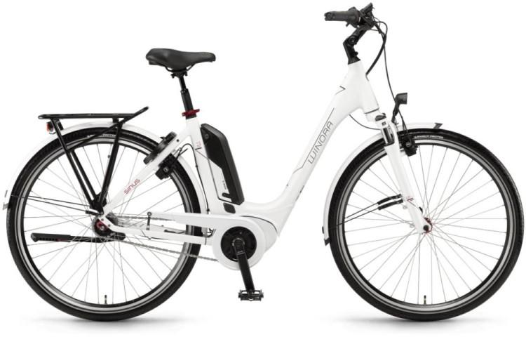 """Winora Tria N7 400Wh 28"""" RT weiß 2018 - Tiefeinsteiger E-Bike Trekkingrad"""