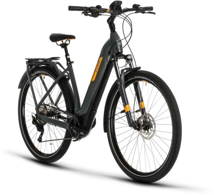 Cube Kathmandu Hybrid Pro 500 grey n orange 2020 - E-Bike Trekkingrad Tiefeinsteiger