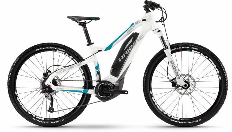 Haibike SDURO HardLife 4.0 400Wh weiß/titan/cyan 2017 - Damen E-Bike Hardtail Mountainbike