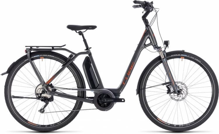 Cube Town Hybrid Sport Pro 500 grey n copper 2018 - Tiefeinsteiger E-Bike Trekkingrad