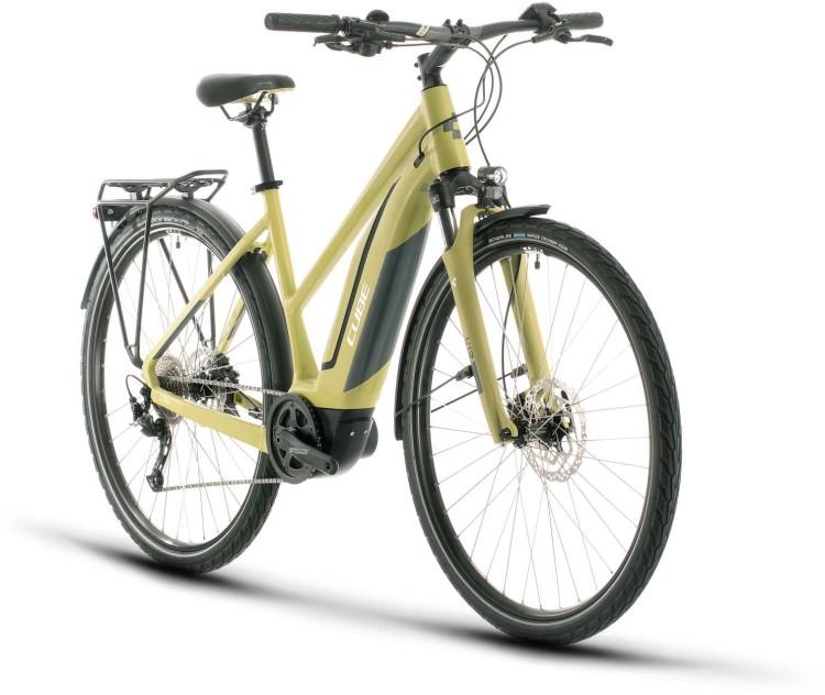 Cube Touring Hybrid ONE 500 green n white 2020 - E-Bike Trekkingrad Damen