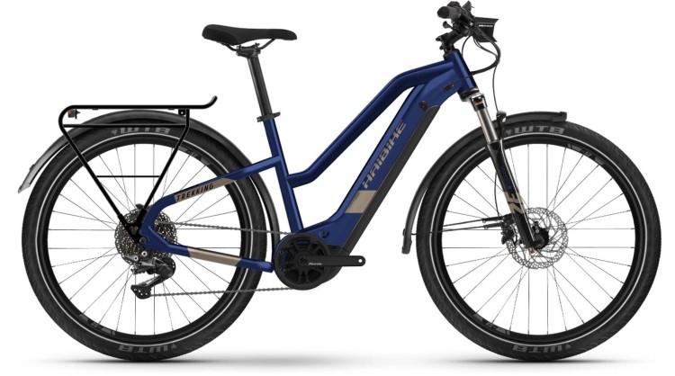 Haibike Trekking 7 i630Wh blue/sand 2021 - E-Bike Trekkingrad Damen