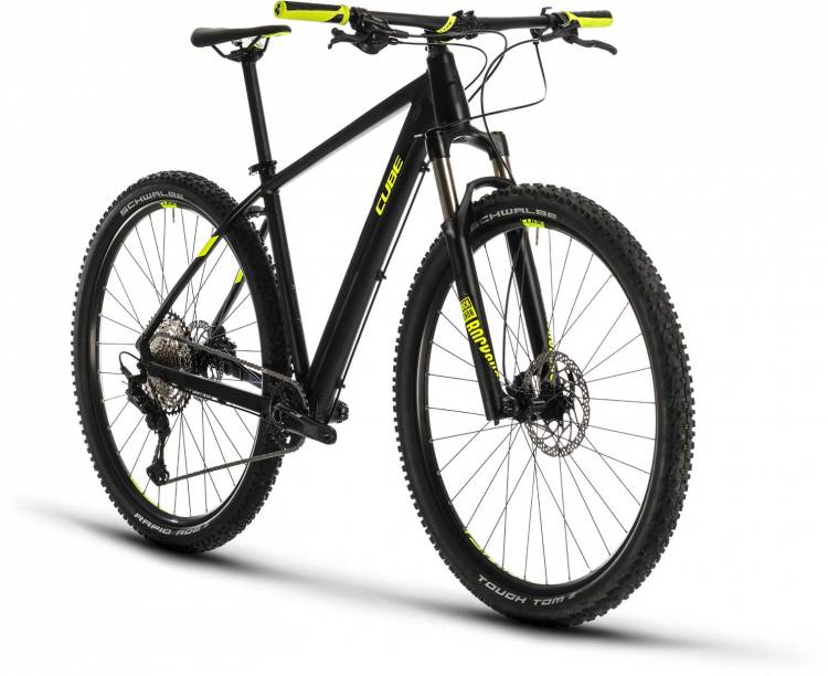 Cube Reaction Pro black n flashyellow 2020 - Hardtail Mountainbike