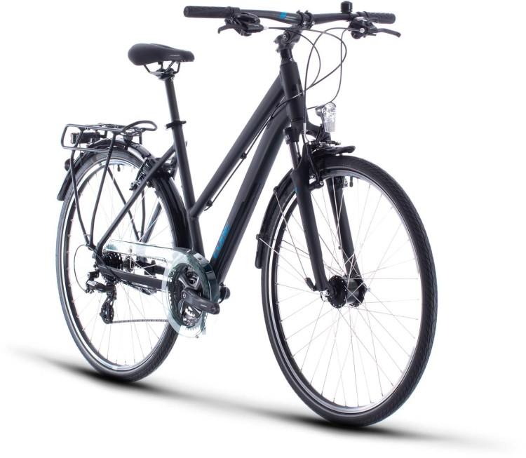 Cube Touring black n blue 2020 - Trekkingrad Damen