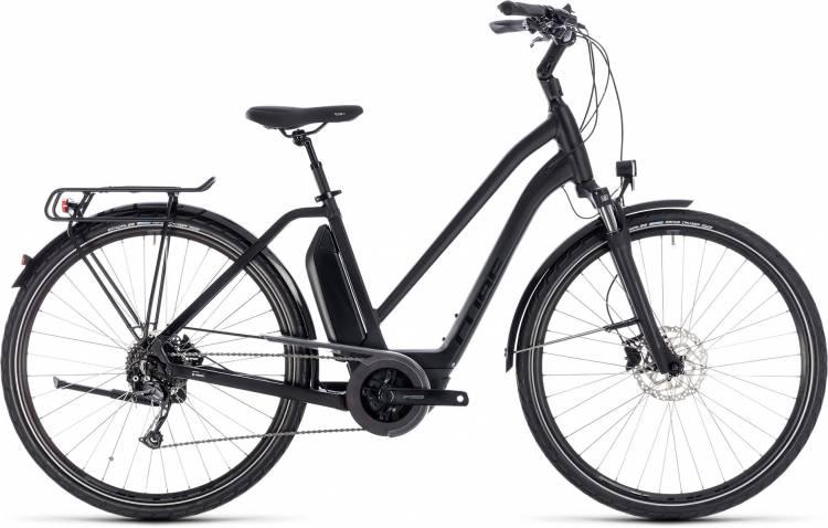 Cube Town Hybrid Sport 400 black edition 2018 - Damen Trapez E-Bike Trekkingrad