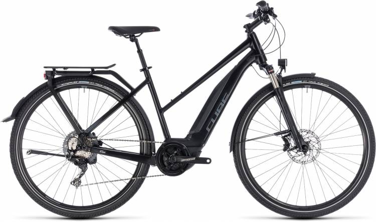 Cube Touring Hybrid EXC 500 black n grey 2018 - Damen Trapez E-Bike Trekkingrad