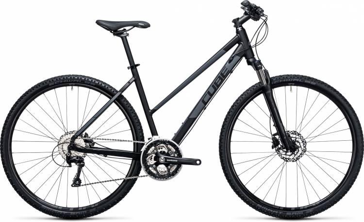 Cube Nature Pro black n grey 2017 - Damen Trapez Crossrad