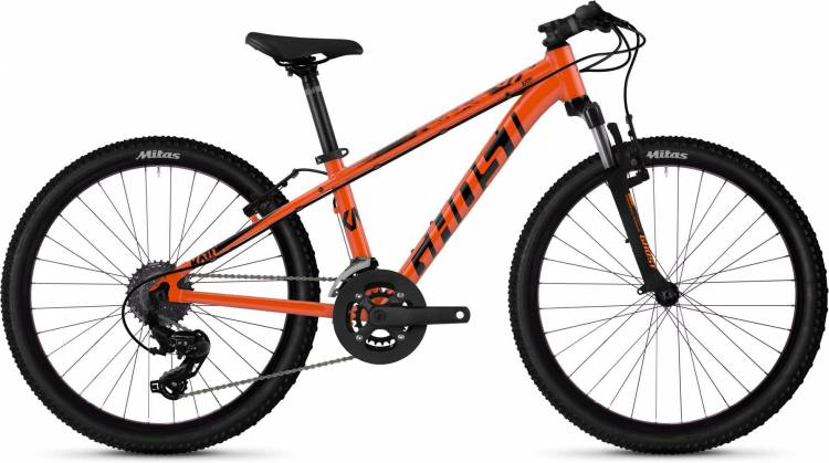 Ghost Kato 2.4 AL U monarch orange / jet black 2020 - Kinderrad 24 Zoll