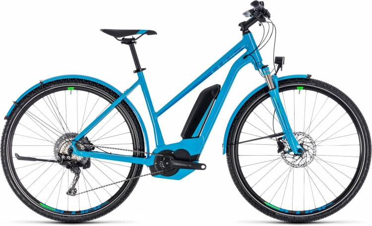 Cube Cross Hybrid Race Allroad 500 blue n green 2018 - Damen Trapez E-Bike Crossrad