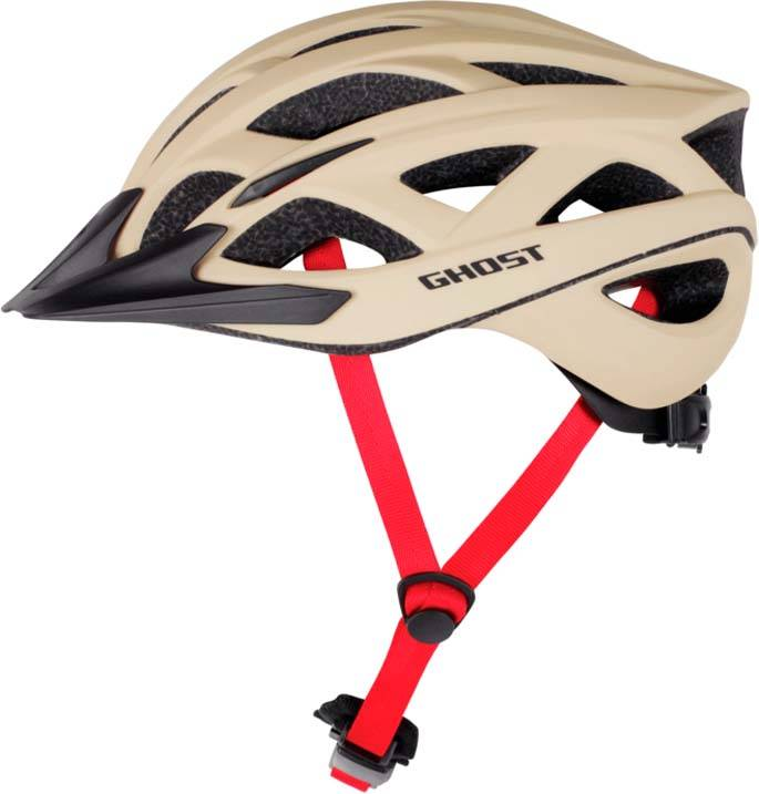 Ghost Helm Classic Plus tan / night black / riot red