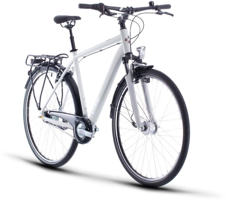 Cube Town Pro grey n white 2020 - Trekkingrad Herren