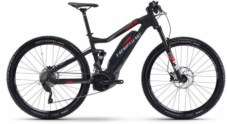 Haibike SDURO FullNine 7.0 500Wh schwarz/rot/titan matt 2017 - E-Bike Fully Mountainbike