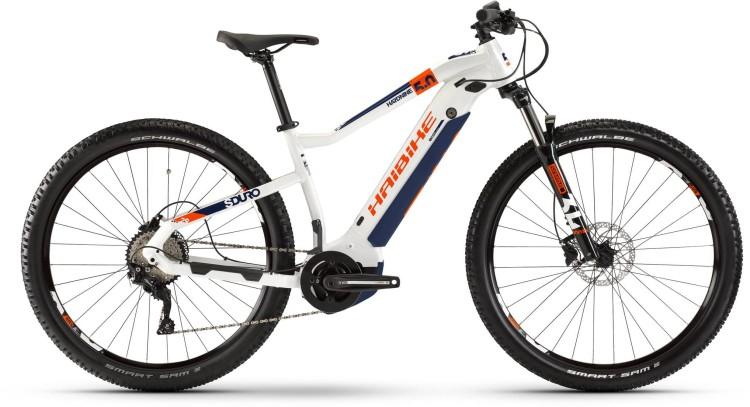 Haibike SDURO HardNine 5.0 500Wh Weiß/Orange/Blau 2020
