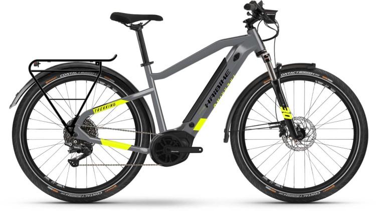 Haibike Trekking 6 i500Wh cool grey/red 2021 - E-Bike Trekkingrad Herren