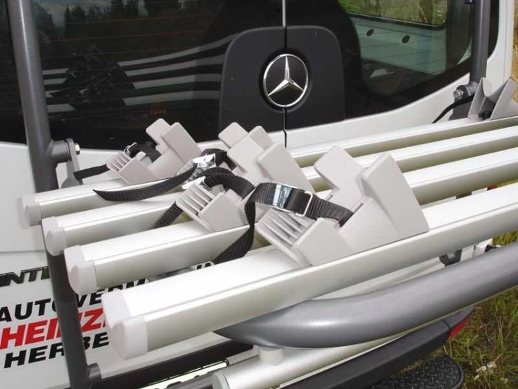 EuroCarry Heckträger Hoch- /Tieflader für 4 Fahrräder