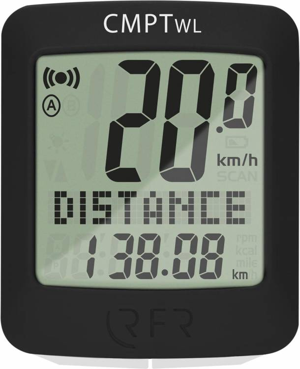RFR Fahrradcomputer wireless CMPT schwarz