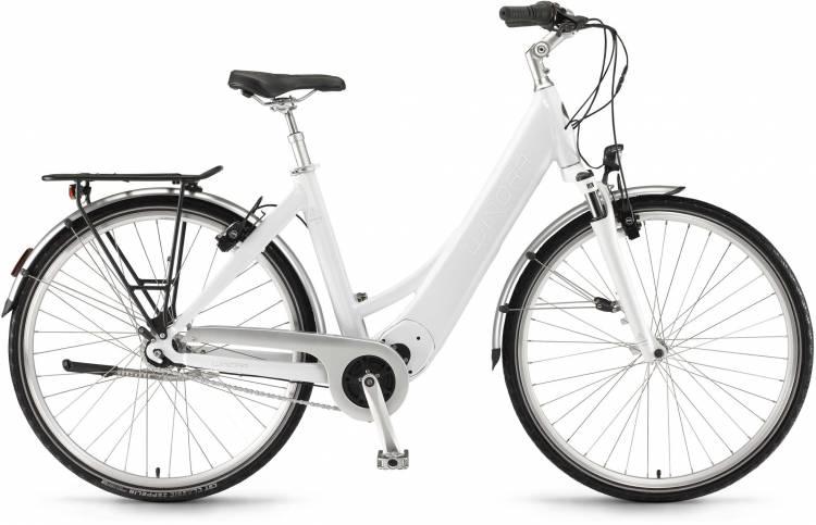 """Winora Manto M7 28"""" FL 400Wh saltwhite 2017 - Tiefeinsteiger E-Bike Trekkingrad"""