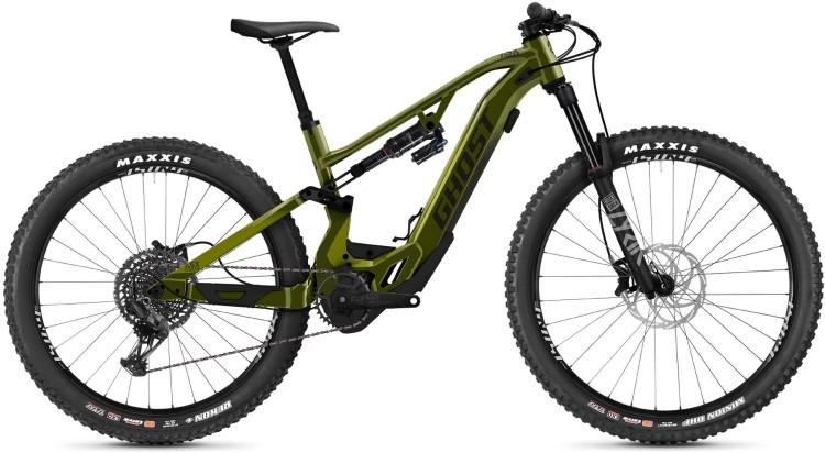 Ghost Hybride ASX Universal 160 green / gray 2021 - E-Bike Fully Mountainbike
