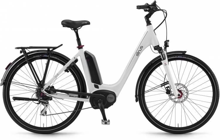 """Sinus Tria 8 400Wh 26"""" weiß 2017 - Tiefeinsteiger E-Bike Trekkingrad"""