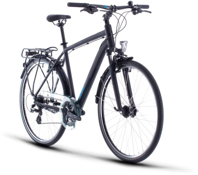 Cube Touring black n blue 2020 - Trekkingrad Herren