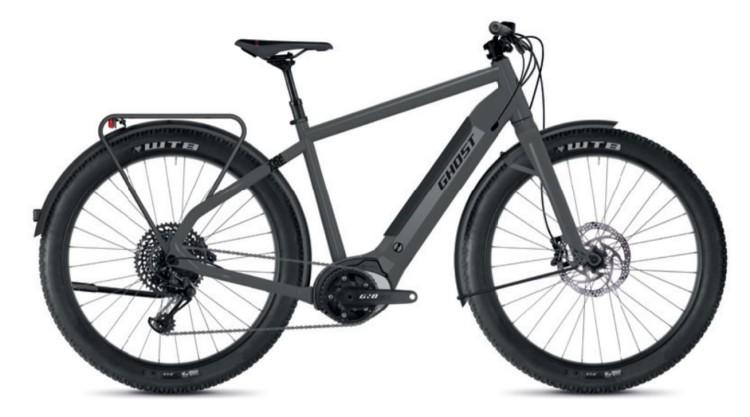 Ghost Hybride Square Travel B4.7+ AL U rock / jet black 2020 - E-Bike Trekkingrad Herren