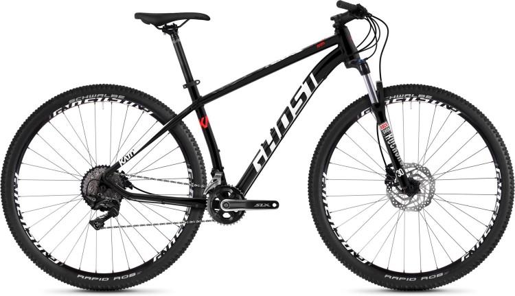 Ghost Kato 7.9 AL U jet black / star white / fiery red 2020 - Hardtail Mountainbike - Lackschaden