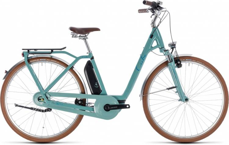 Cube Elly Cruise Hybrid 500 pistachio n blue 2018 - Tiefeinsteiger Retro E-Bike Trekkingrad