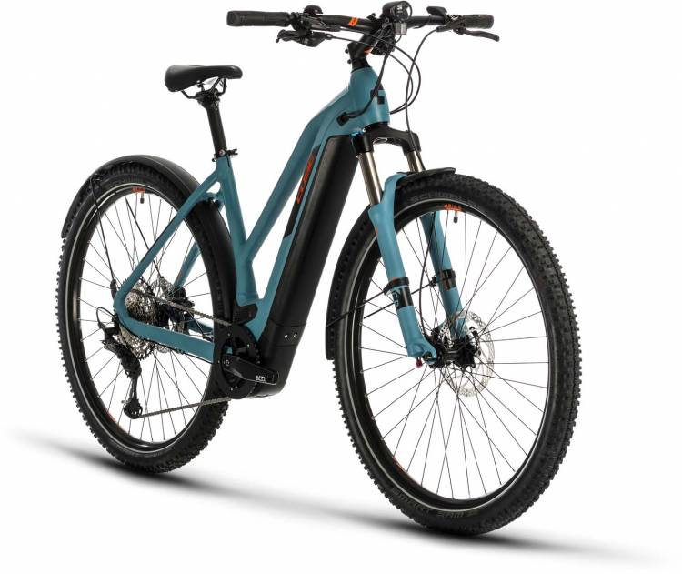 Cube Cross Hybrid Race 625 Allroad blue n orange 2020 - E-Bike Crossrad Damen