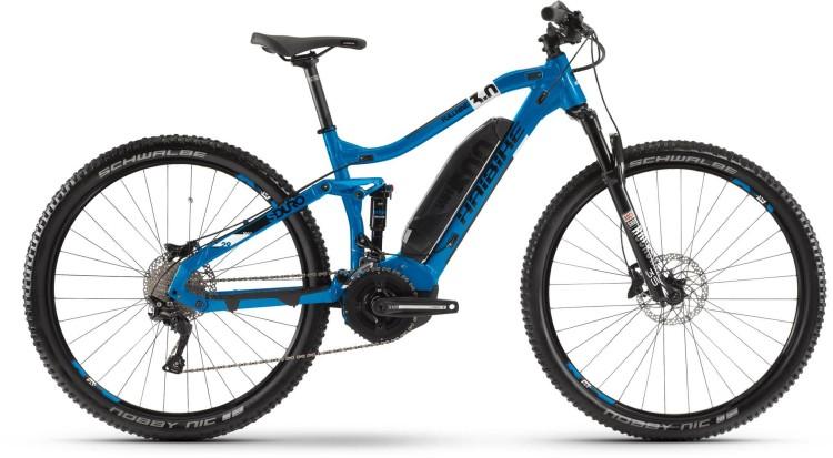 Haibike SDURO FullNine 3.0 500Wh Blau/Weiß/Schwarz 2020