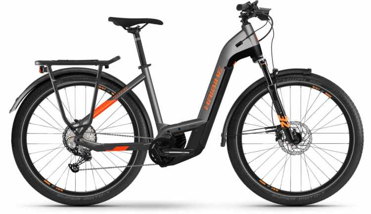 Haibike Trekking 10 i625Wh titan/lava matte 2021 - E-Bike Trekkingrad Tiefeinsteiger