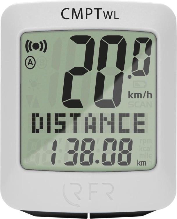 RFR Fahrradcomputer wireless CMPT weiß