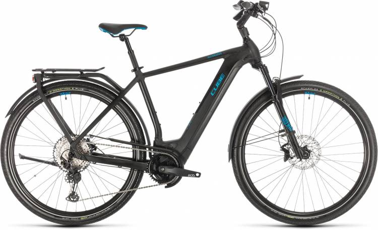 Cube Kathmandu Hybrid SL 625 black n blue 2020 - E-Bike Trekkingrad Herren