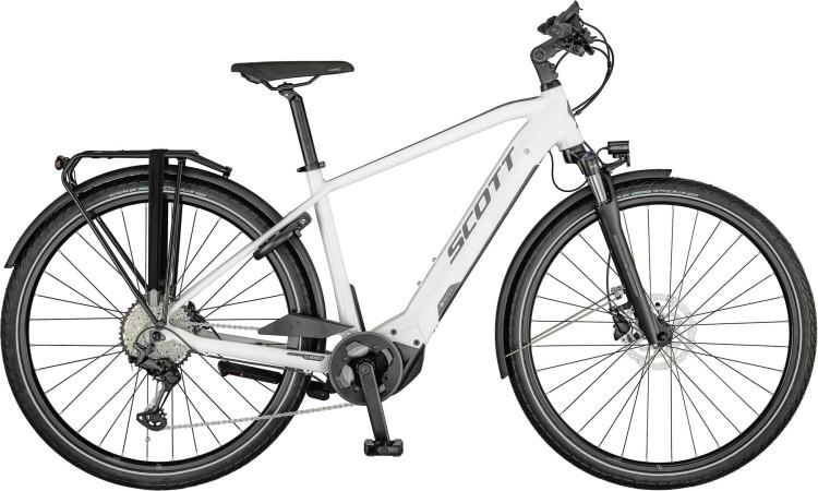 Scott Sub Sport eRIDE 10 Men gloss white / steel grey 2021 - E-Bike Trekkingrad Herren