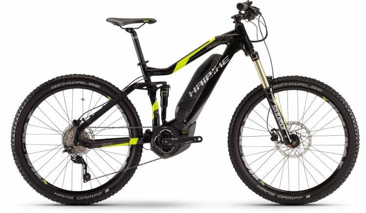 Haibike SDURO AllMtn 5.0 400Wh schwarz/lime 2017 - E-Bike Fully Mountainbike