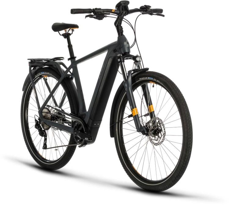 Cube Kathmandu Hybrid Pro 500 grey n orange 2020 - E-Bike Trekkingrad Herren