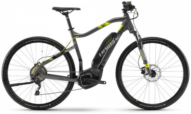 Haibike SDURO Cross 4.0 400Wh anthr./schwarz/lime 2018 - Herren E-Bike Crossrad