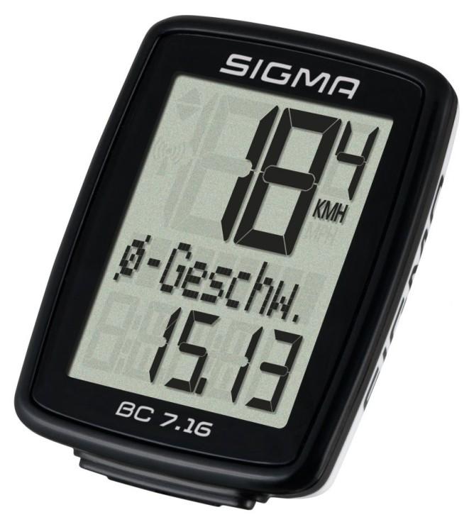 Sigma Fahrradcomputer BC 7.16 schwarz